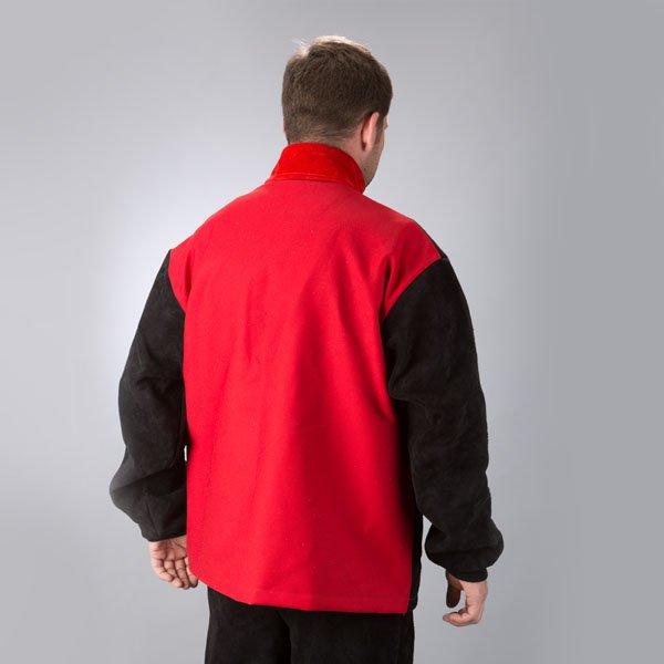 Code Black Proban backed leather jacket