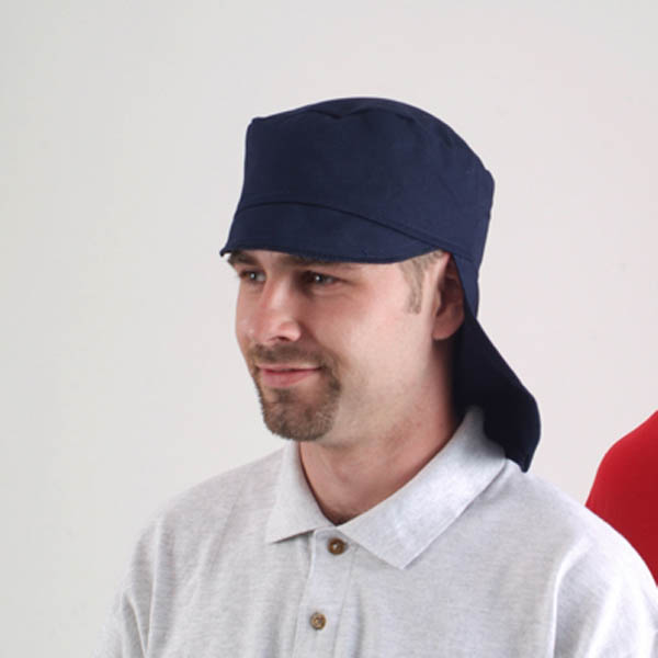 FR peaked cap hat with back flap
